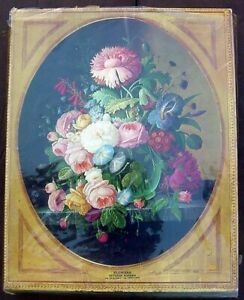 """New 1968 Springbok FLOWERS by Severin Roesen 500 pc Puzzle 17""""x21"""" in Shrinkwrap"""