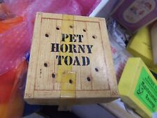 Vtg Naughty Gag Gift Dirty Joke Novelty Rubber Pet Horny Toad In A Box Brown