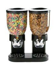 Corn Flakes Dispenser Dry Cereal Countertop Double Canister Breakfast Commercial