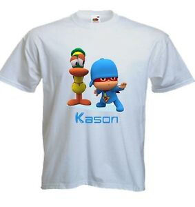 Super Man Pocoyo Custom T Shirt Party Favor Birthday Gift Personalized Name