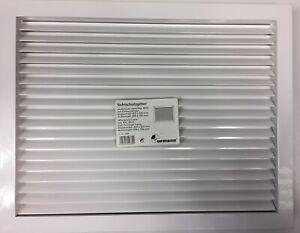Sichtschutzgitter 425 x 325 mm Aluminium weiß Lüftungsgitter Wetterschutzgitter