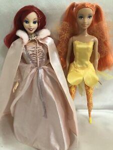 Barbie Lot Fairytopia Dandelion and Disney Little Mermaid Ariel