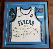 NBA Fort Worth Flyers Framed Signed Autographed Team Jersey Radio Shack Dallas