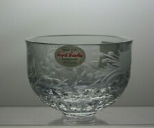 ROYAL BRIERLEY CRYSTAL CUT GLASS SMALL BOWL WITH ORIGINAL BOX