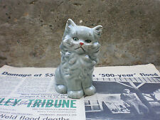 Persian Cat Container Porcelain Glass Figurine 1950'S