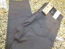 NEW LEVIS 508 REGULAR TAPER FIT  JEANS MENS 30X32 GRAY 055210014 FREE SHIP