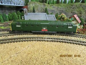 """Lima - oo/ho - 2 rail - """"Deltic"""" Diesel Electric Loco. in green livery - No.123"""