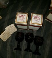 3 Avon Cape Cod WINE GOBLET Candlette Holders BAYBERRY 2 Candles-Original Boxes