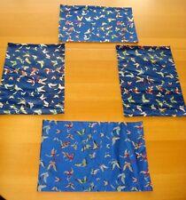 4 Sous-Plat -under plate-bleu-papillon
