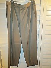 ZANELLA  Wool light brown pleated Vintage Dress Pants Sz 34 x 32
