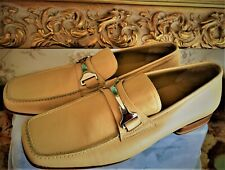 NEW VIA SPIGA Beige very soft Leather Shoes Loafers Slip On Men US Size 9 ITALY