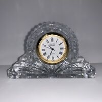 Crystal Legends Mantle Clock by Godinger Hand Crafted Over 24% Lead Crystal EUC