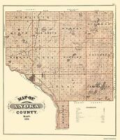 Anoka Minnesota Landowner - Andreas 1874 - 23 x 26.69