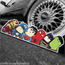Superheroes Sticker Car Decal Laptop PC Hulk Iron Man Avengers Batman Superman