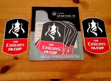 2016-18 Emirates FA Cup Football PS-Pro sportingid Football Badge Patch Set (2pcs)