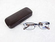 Fossil Libby Eyeglass Frames LIBBY 0DA4 Matte Navy Rx-able