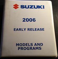 2006 SUZUKI MOTORCYCLES & ATV'S DEALER NEW MODELS MANUAL IN BINDER  (421)