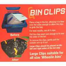 Wheelie Bin Clips pack of 4