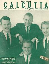 Four Preps Calcutta 1960 Photo Sheet Music
