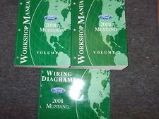 2008 Ford Mustang Gt Cobra Mach Service Shop Repair Manual Set OEM W EWD