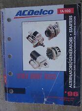 1996 AC Delco Alternator Generator Starting Motor Starter Distributor Manual  N