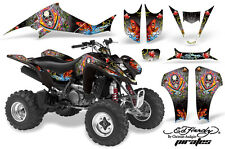 ATV Decal Graphic Kit Wrap For Suzuki LTZ400 Kawasaki KFX400 2003-2008 EDHP BLK