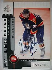 2001-02 SP AUTHENTIC LIMITED # 177 KRISTIAN HUSSELIUS AUTO ,PANTHERS !! BOX # 7