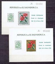 El Salvador  1962  -  Blocks Mi 12/3 **  centenary Ahuachapan