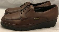 MEPHISTO shoes womens US 7 Air Jet Brown Leather Mocc Toe Wedge Oxfords Platform