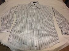 Nordstrom White Striped Tailored Button Up Dress Shirt 16x34