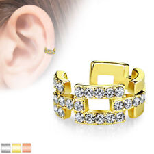Ear Cubic Zirconia Rose Gold Plated Body Jewellery