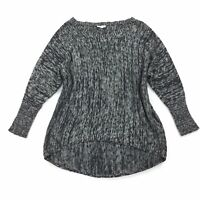 Eileen Fisher Sweater Size SMALL Womens Black Gray Oversized Tunic Luxury Knit S