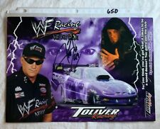 Signed Jerry Toliver Autographed WF Racing Undertaker Photo Card 8.5 X 12 N 650