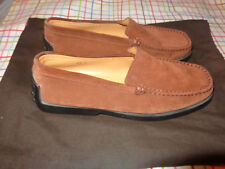 TOD'S Men's BROWN SUEDE DRIVING MOCCASINS Shoes SIZE 7.5 MADE IN ITALY