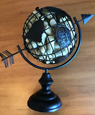 """New listing Wine Cork Holder Metal globe Decorative Table Top Display """"Corks Of The World"""""""