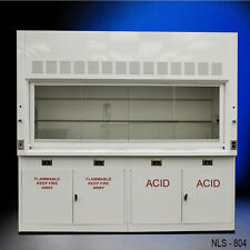 Chemical  EIGHT FOOT Laboratory Fume Hood NEW W/ FLAMMABLE & ACID CABINETS--