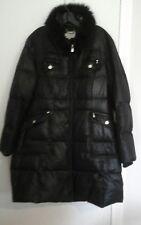 LAUNDRY BY SHELLI SEGAL XL Black Long Puffer Down Winter Coat