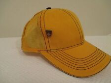 Yellow Mesh Back Trucker Snapback Baseball Hat with Andrew Christian Cap Pin
