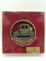 Hallmark Season's Greetings Vintage 1977 Christmas Ornament Model T Car