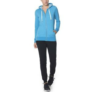 Size L - Icebreaker Women's Allure LS Zip Hood, Cyan/Natural, Large