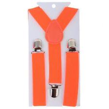 Orange 1PCS Children Kids Toddler Clip-on Suspenders Elastic Adjustable Brace