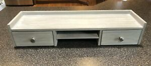 """Pottery Barn Kids Morgan Low Hutch Brushed Fog with 2 Drawers 28.5"""" W"""