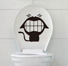 FD994 Crazy Cat Stickers Toilet Wall Home Decal Vinyl Removable Stickers DIY 1pc