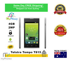 "Telstra ZTE Tempo T815 White 4"" 4GB AU Warranty Cheap Smart phone UNLOCKED"