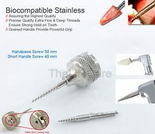 Dental Implant Root Extraction Screw Handpiece Anchor & Short Handle 2 Pcs/Set