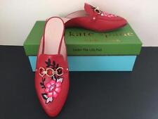 NIB KATE SPADE Mules CANYON Sz 7.5 M RED LEATHER Shoes 7-1/2 NEW ~ OVER 60% OFF!
