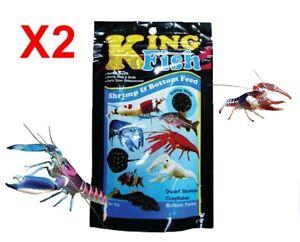 X2 King Fish Crayfishes Tropical Dwarf Shrimp Bottom Food Flake Fishes Aquarium