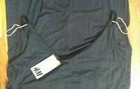 NEW $34.95 H&M Maxi Long Black Sun DRESS GoldChain Shoulder Detail sz. M High Qu