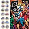 14pcs Marvel The Avengers iron Man Gold Moneda conmemorativa en caja de regalos