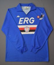 4/5 SAMPDORIA 1989-1990 # 7 FOOTBALL HOME SHIRT LONG SLEVEE PLAYER ISSUE KAPPA
